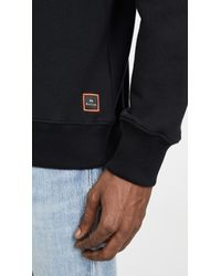 PS by Paul Smith Black Crew Neck Sweatshirt With Stripes for men