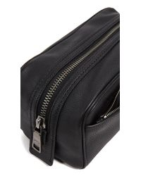 COACH - Black Dopp Kit In Pebbled Leather for Men - Lyst