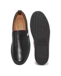 Bally Black Herald Slip On Sneakers for men