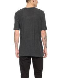 T By Alexander Wang Gray Slub Low Neck T-shirt for men