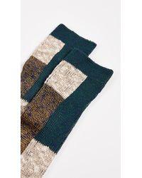 Maison Kitsuné Multicolor Stranded Colorblock Socks for men