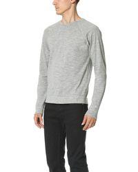 Rag & Bone - Gray T-shirt With Long Sleeves for Men - Lyst