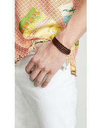 Miansai Brown Trice Woven Leather Wrap Bracelet for men