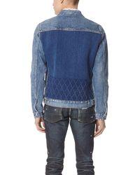 Fabric-Brand & Co. Blue Argon Trucker Jacket for men