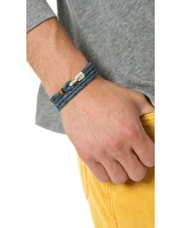 Miansai - Gray Trice Woven Leather Wrap Bracelet for Men - Lyst