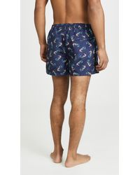 PS by Paul Smith Blue Classic Swim Shorts for men