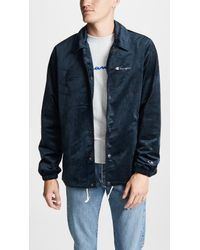 4be1740f1 Champion Coach Jacket in Blue for Men - Lyst
