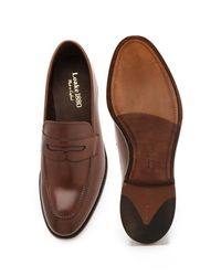 Loake Brown Whitehall Burnished Saddle Loafers for men