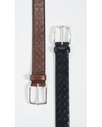 BOSS Black Jor Woven Embossed Leather Belt for men