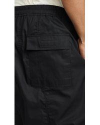 Rick Owens Drkshdw Black Pod Shorts for men