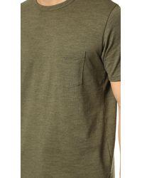 Rag & Bone Green Standard Issue Pocket Tee for men