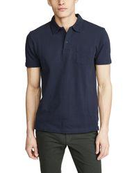 Sunspel Blue Short Sleeve Riviera Polo Shirt for men