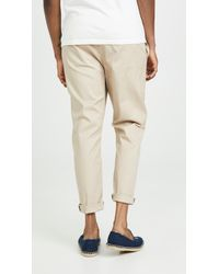 The Silted Company Natural Coffin Trousers for men
