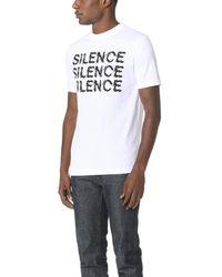 McQ Alexander McQueen White Silence Tee for men