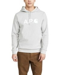 A.P.C. Gray P.c.a.c. X Carhartt Wip Pullover Hoodie for men