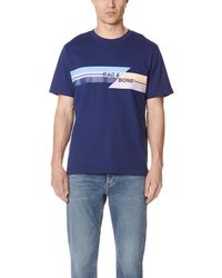 dfe1bb971 Lyst - Rag   Bone Glitch Tee in Blue for Men