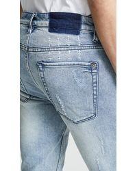 Ksubi Blue Van Winkle Trashed Dreams Jeans for men
