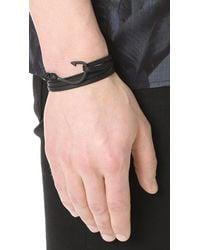 Miansai Black Hook Leather Bracelet for men