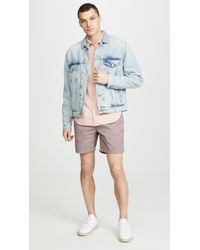 Save Khaki Pink Poplin Easy Shirt for men