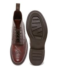 Loake Brown Bedale Heavy Brogue Boots for men