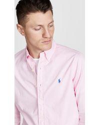 Polo Ralph Lauren Pink Chino Shirt for men