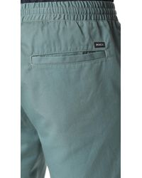 RVCA Blue Dayshift Elastic Shorts for men