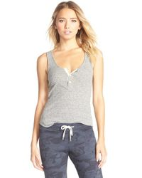 Monrow | Gray Ribbed Tank | Lyst