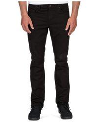 Volcom | Black Men's Vorta Slim Straight-fit Twill Trousers for Men | Lyst