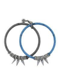 BCBGeneration - Metallic Shaky Spike Bangle Bracelet Set 2 - Lyst