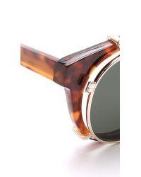 Han Kjobenhavn Brown Timeless Clip-on Sunglasses for men