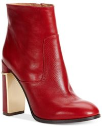 Calvin Klein | Red Women's Karlia Booties | Lyst