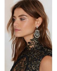 Nasty Gal | Metallic Pearl's Night Out Chandelier Earrings | Lyst