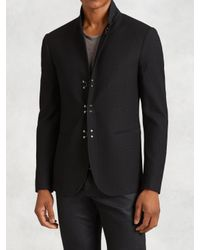 John Varvatos | Black Cotton Hook & Bar Jacket for Men | Lyst