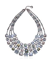 Antica Murrina | Gray Atelier Byzantium - Grey Murano Glass & Silver Leaf Choker | Lyst