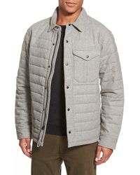 Relwen Gray Quilted Field Jacket for men