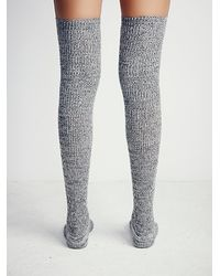 Free People | Black Inner Circle Thigh High Sock | Lyst