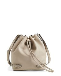 Tory Burch - Gray 'robinson' Saffiano Leather Bucket Bag - Lyst
