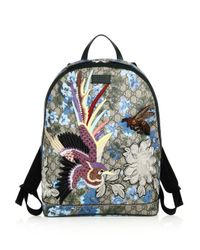 Gucci - Multicolor Linea C Embroidered Gg Canvas Backpack - Lyst