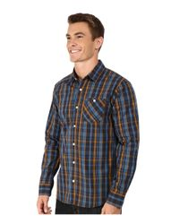 Volcom | Blue Everett Plaid Long Sleeve Woven for Men | Lyst