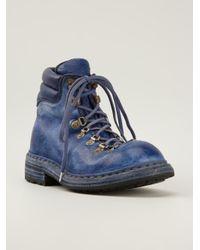 Guidi Blue Full Grain Hiking Boot Donkey for men