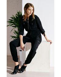 Karen Millen - Black Fluid Jumpsuit - Lyst