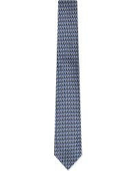 Z Zegna | Blue Broken Chevron Tie for Men | Lyst