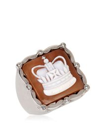Amedeo | Metallic Royal Crown Cameo Ring for Men | Lyst