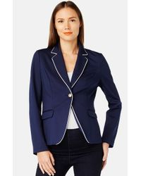 Rosie Pope | Blue Newbury Stretch-Knit Maternity Blazer | Lyst