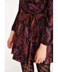 Ecote - Multicolor Cozy Printed Bell-sleeve Mini Dress - Lyst