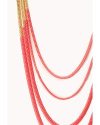 Forever 21 | Neon Pop Layered Necklace | Lyst