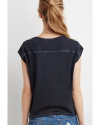 Forever 21 - Black Boxy Mineral Wash Tee - Lyst