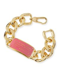 Marc By Marc Jacobs | Metallic Standard Supply Id Chain Bracelet | Lyst