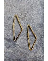 Adina Reyter Metallic Small Right Angle Hoop Earring
