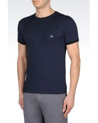 Emporio Armani   Blue Undershirt for Men   Lyst